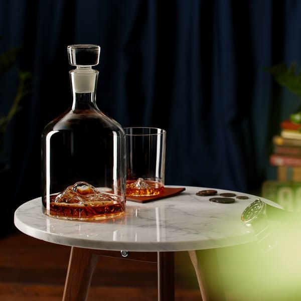 Whiskey Peaks Mountain Decanter | Huckberry