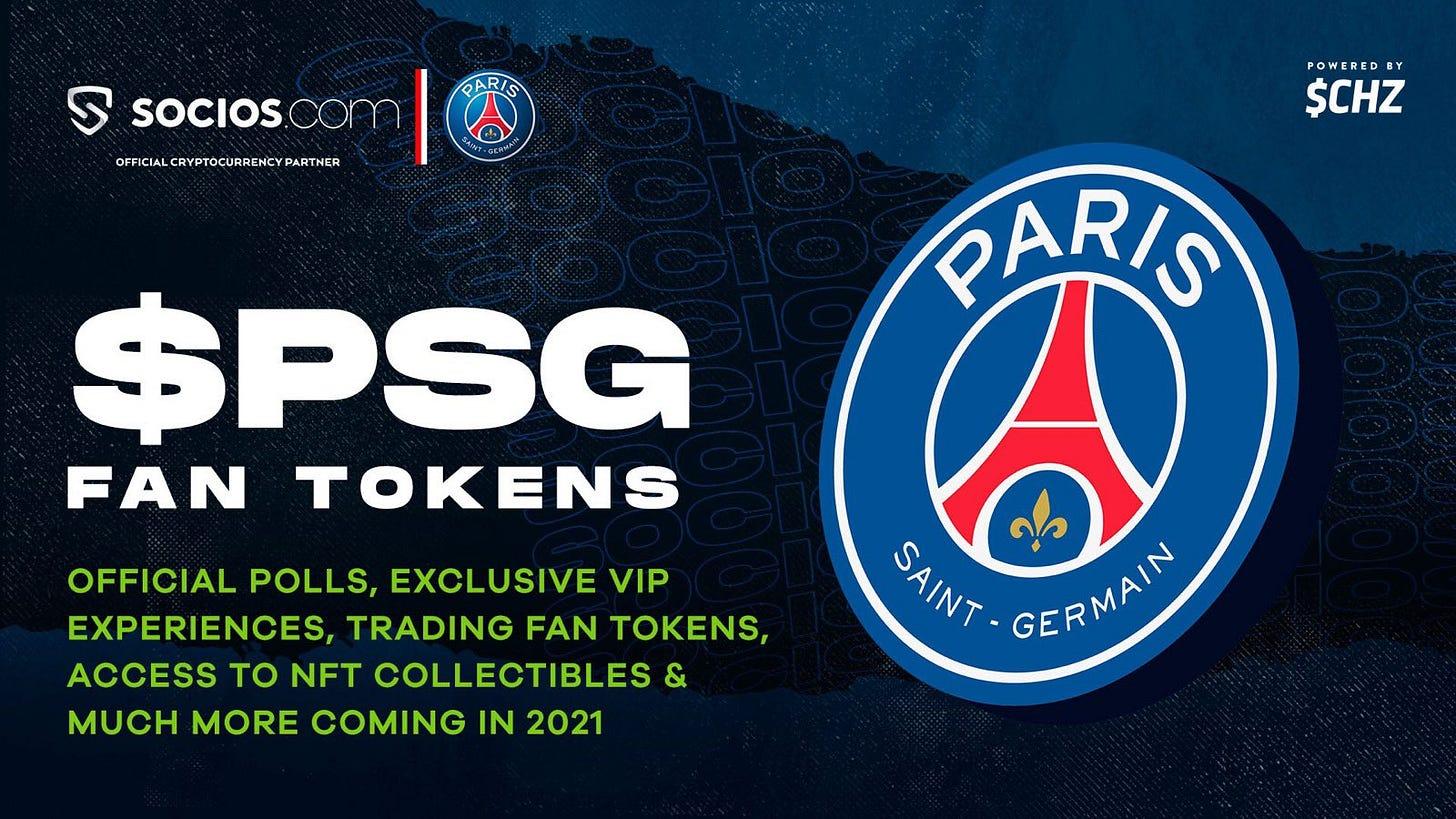 "Socios.com on Twitter: ""Get the official $PSG Fan Token on the Socios App  🙌! 🔜 Big Fan Rewards $CHZ… """