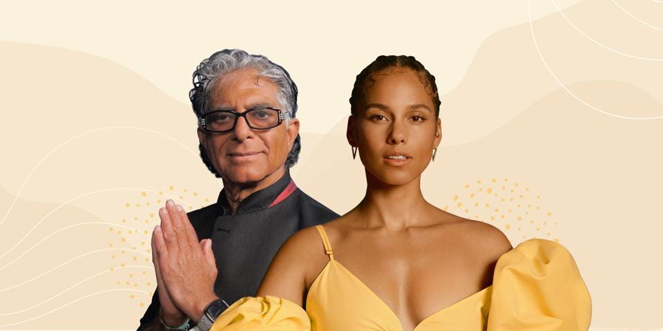 Alicia Keys And Deepak Chopra Launch Meditation Program To 'Climb Out' Of  Pandemic Chaos And Restore Balance