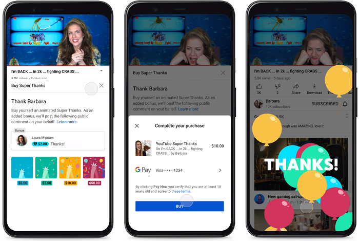 YouTube Expands Super Chat Creator Payment Option Beyond Live-Streams with 'Super  Thanks' – iDea HUNTR