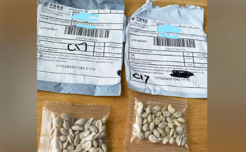 Warning about suspicious packages of seeds appearing to be from ...