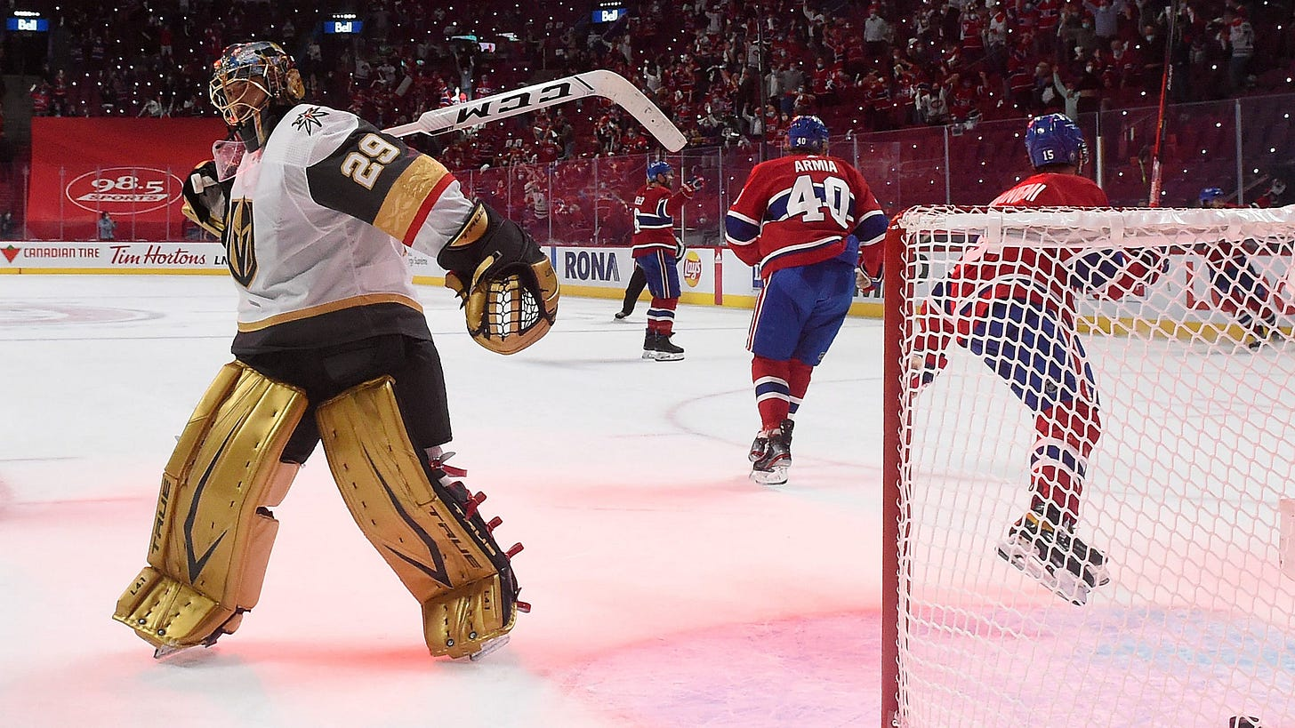 Marc-Andre Fleury mistake helps Canadiens top Golden Knights