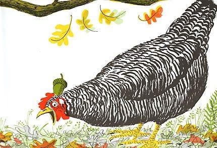 Paul Galdone Illustration - Henny Penny
