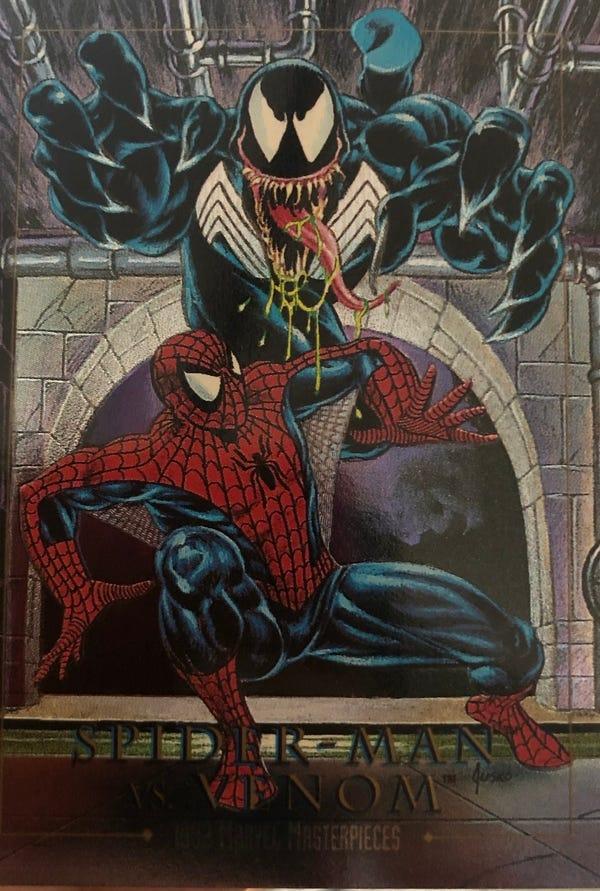 1992 Marvel Masterpiece, Spider-Man vs Venom (Foil).