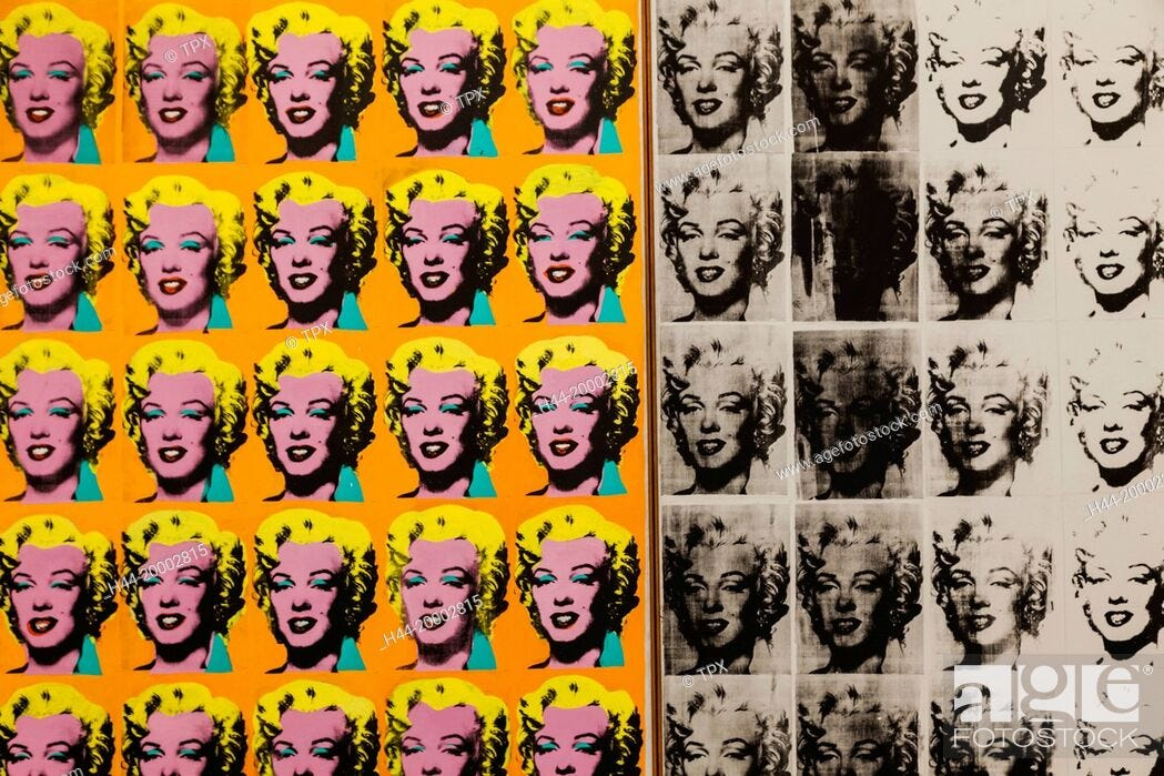 Painting titled Marilyn Diptych by Andy Warhol dated 1962, Stock Photo,  Picture And Rights Managed Image. Pic. H44-20002815   agefotostock