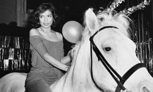 Bianca Jagger on a white horse that happened to be inside Studio 54 on her birthday in 1977