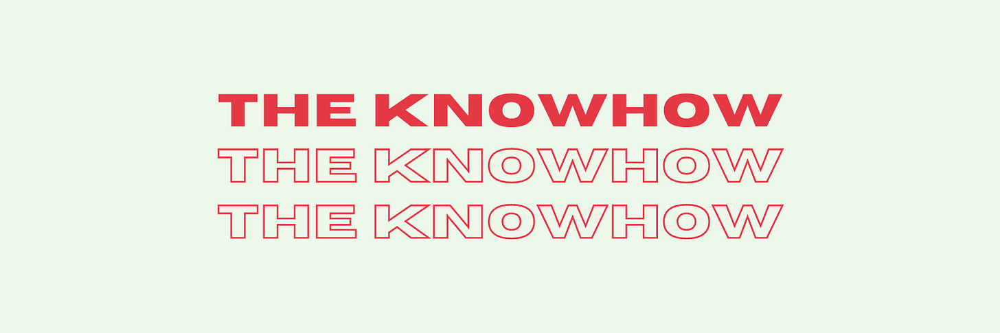 The Knowhow