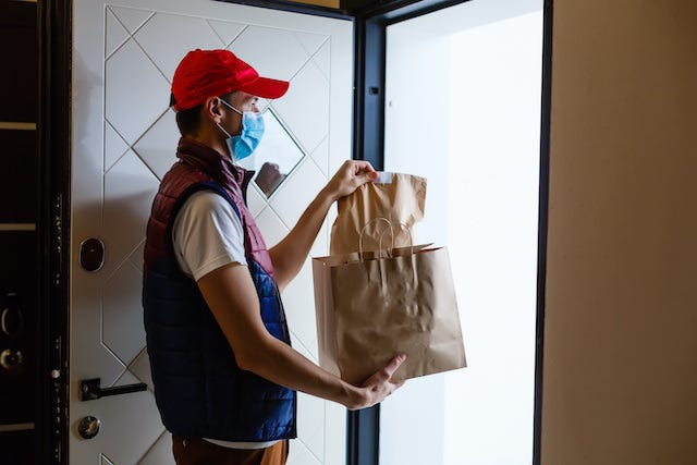 Gig delivery worker Angelov Adobe Stock