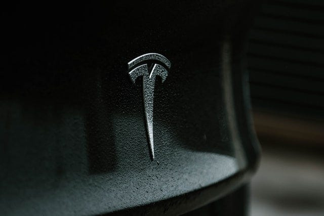 Tesla symbol on car