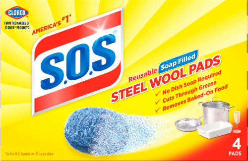 S.O.S. Steel Wool Soap Pads, 4 ct - Fred Meyer