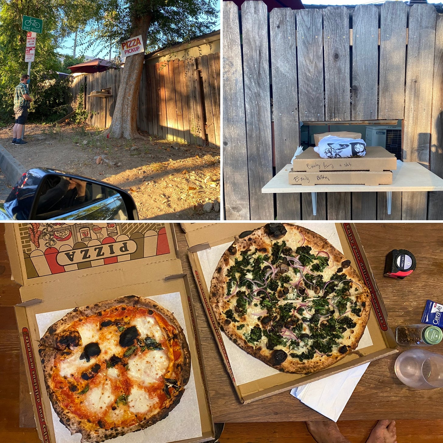 The Side Pie pick-up and pizza experience