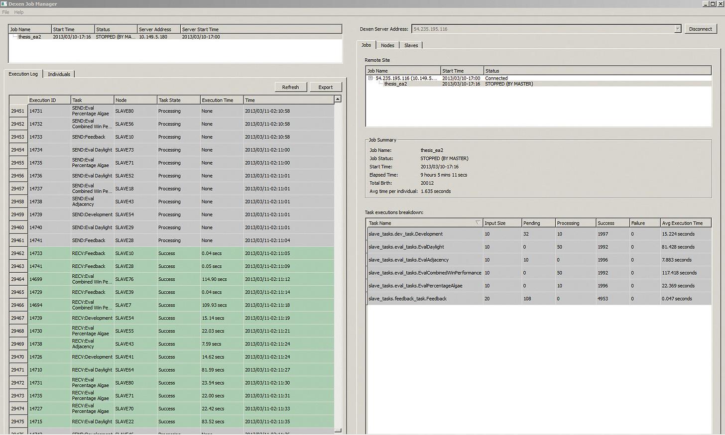 Dexen, distributed execution environment