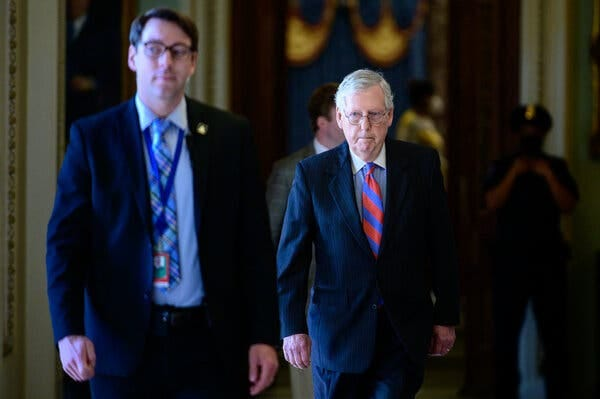 Senator Mitch McConnell of Kentucky, the Republican leader, has made a clear choice that his and his party's fortunes depend on putting the events of Jan. 6 behind them.