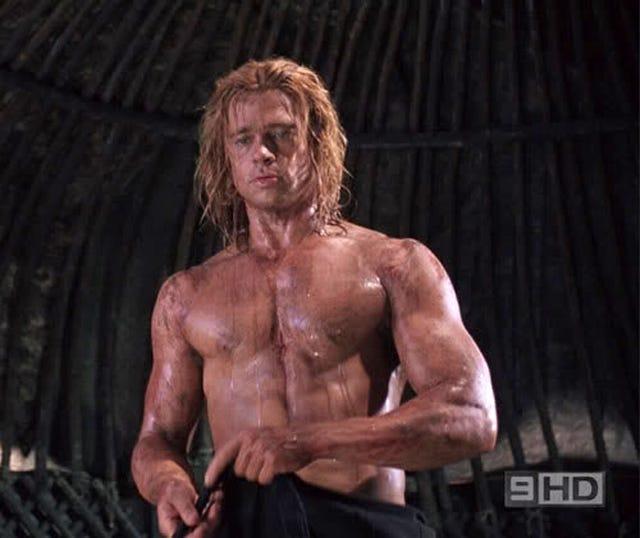 Brad Pitt as Troy : nattyorjuice