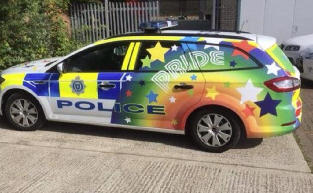 Police stick two fingers to rainbow car haters by getting bigger van    Metro News