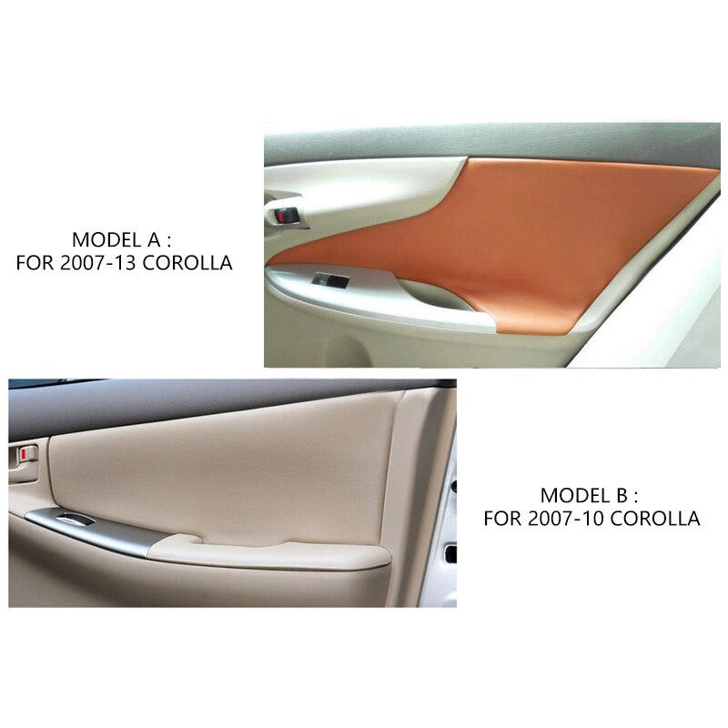 Microfiber Leather Interior Car Styling Door Panel Covers Trim For Toyota Corolla 2007 2008 2009 2010 2011 2012 2013