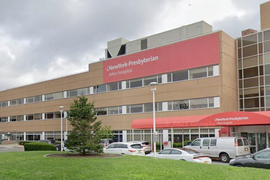 New York-Presbyterian's Allen Hospital, where Dr. Lorna Breen worked. (Google Street View)