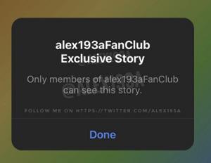 Instagram fan club Stories