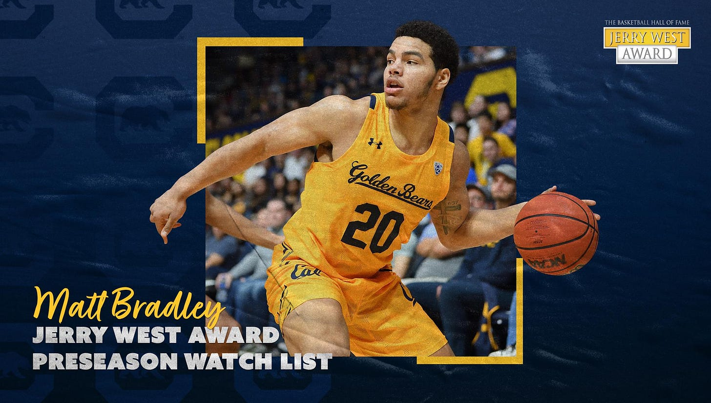 Matt Bradley Named To Jerry West Award Watch List