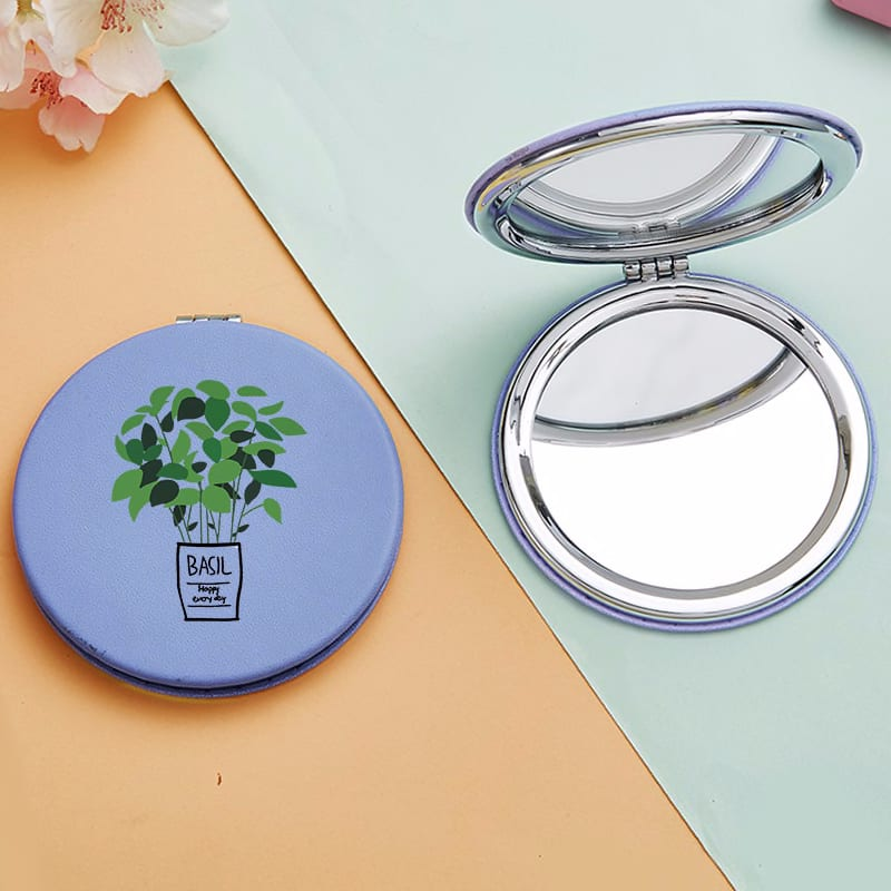 Cartoon Tree Mini Makeup Mirrors with 2 Face for Girl Luxury Magnifying Cosmetic Pocket Compact Vanity Mirror Miroir De Poche