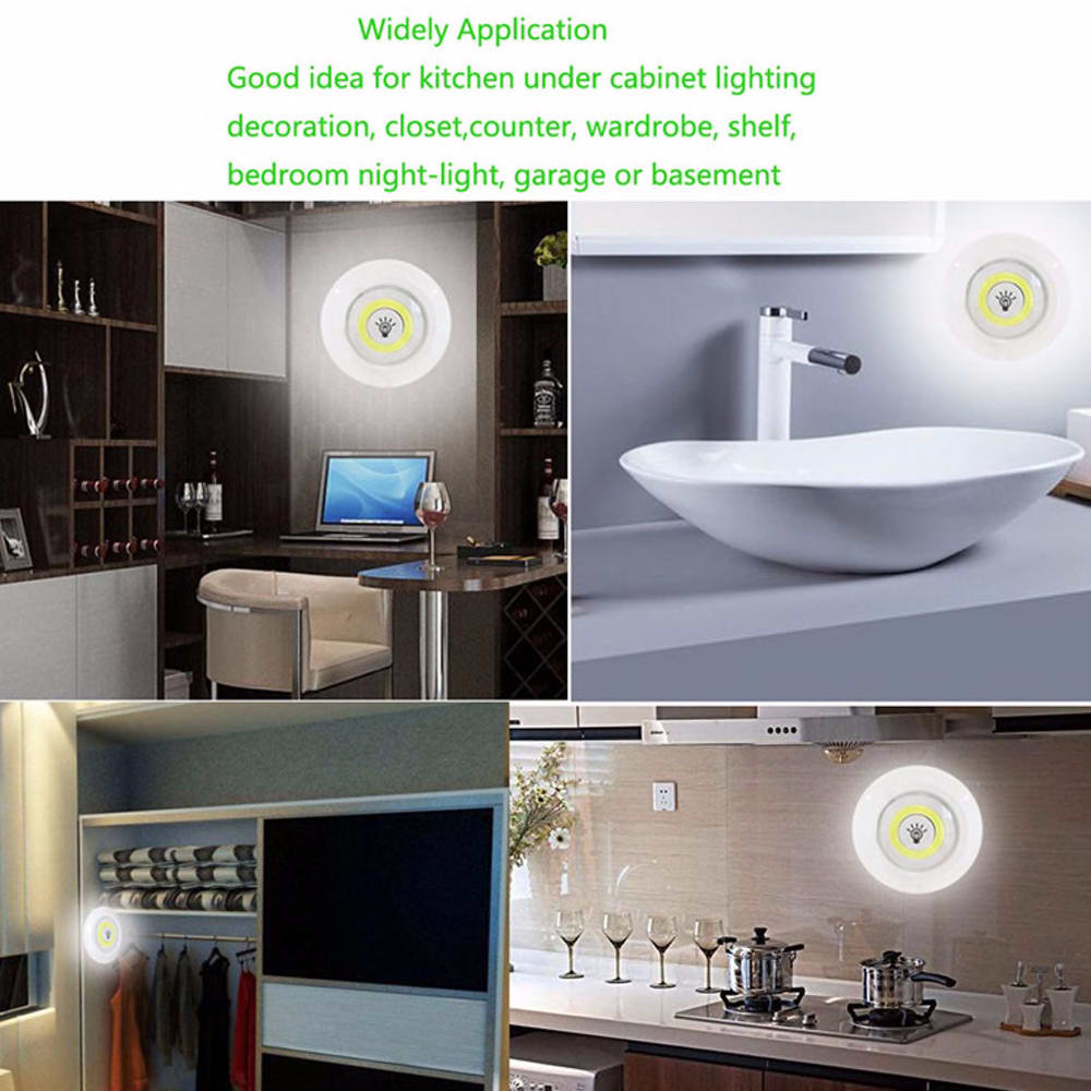Dimmable LED cabinet down light with remote control battery operation LED closet light for wardrobe bathroom lighting new