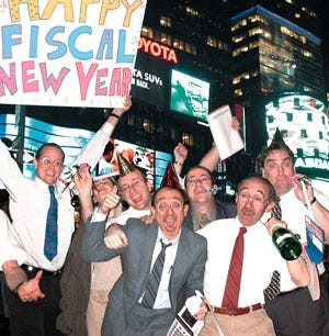Accountants celebrating The New Fiscal Year.