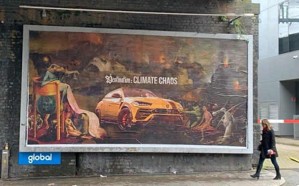 """Brandalism"" targets car companies."