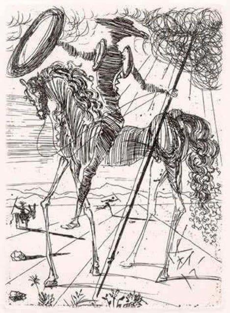 Salvador Dalí   Don Quixote de la Mancha (1957)   Available for Sale   Artsy