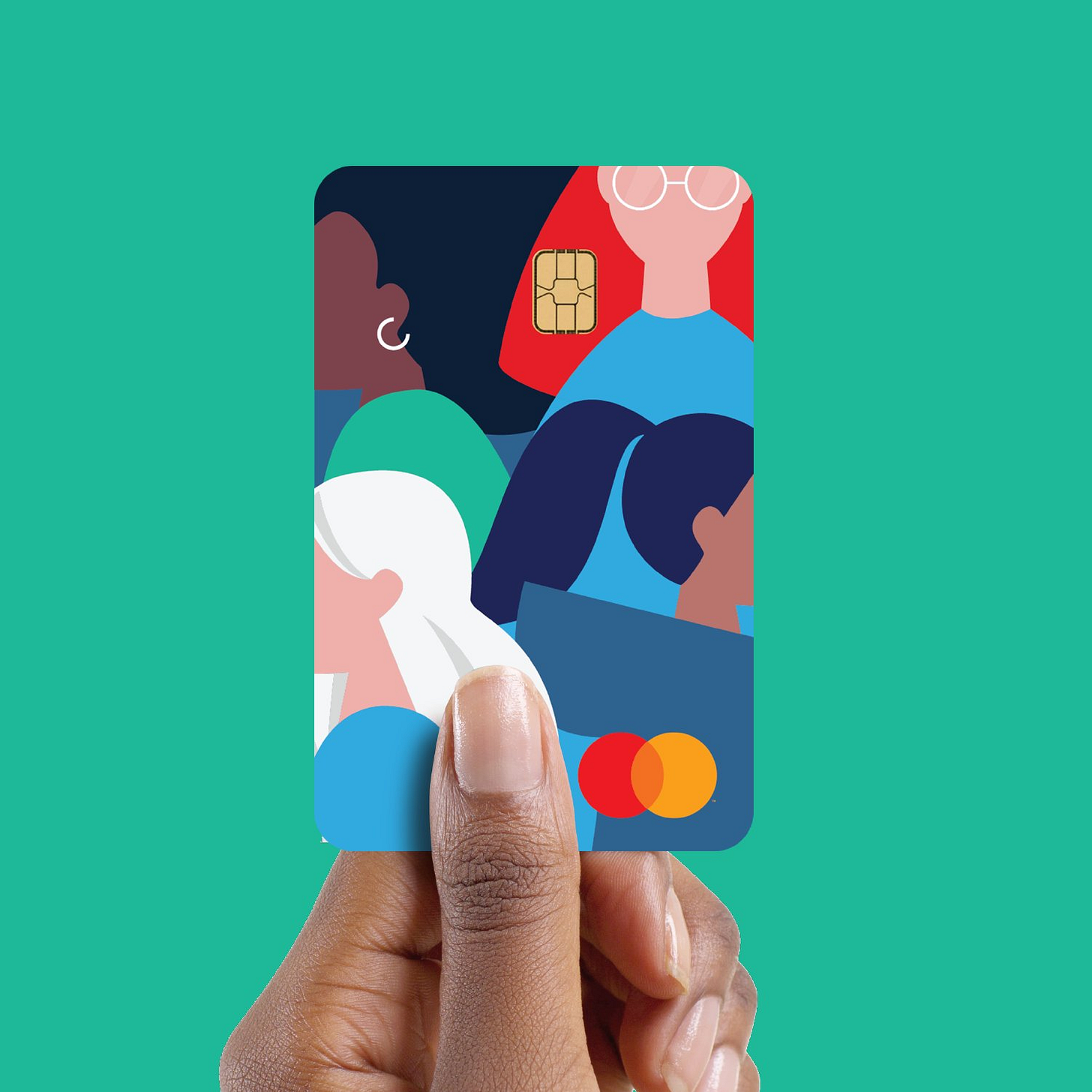 Seneca Women Mastercard in a hand