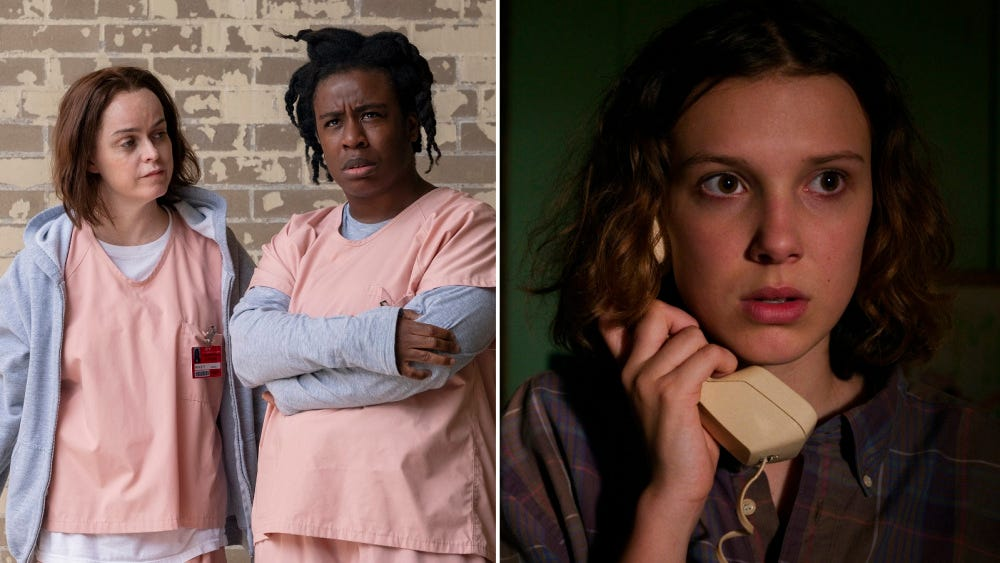 Orange Is the New Black, Stranger Things - Netflix favorite shows