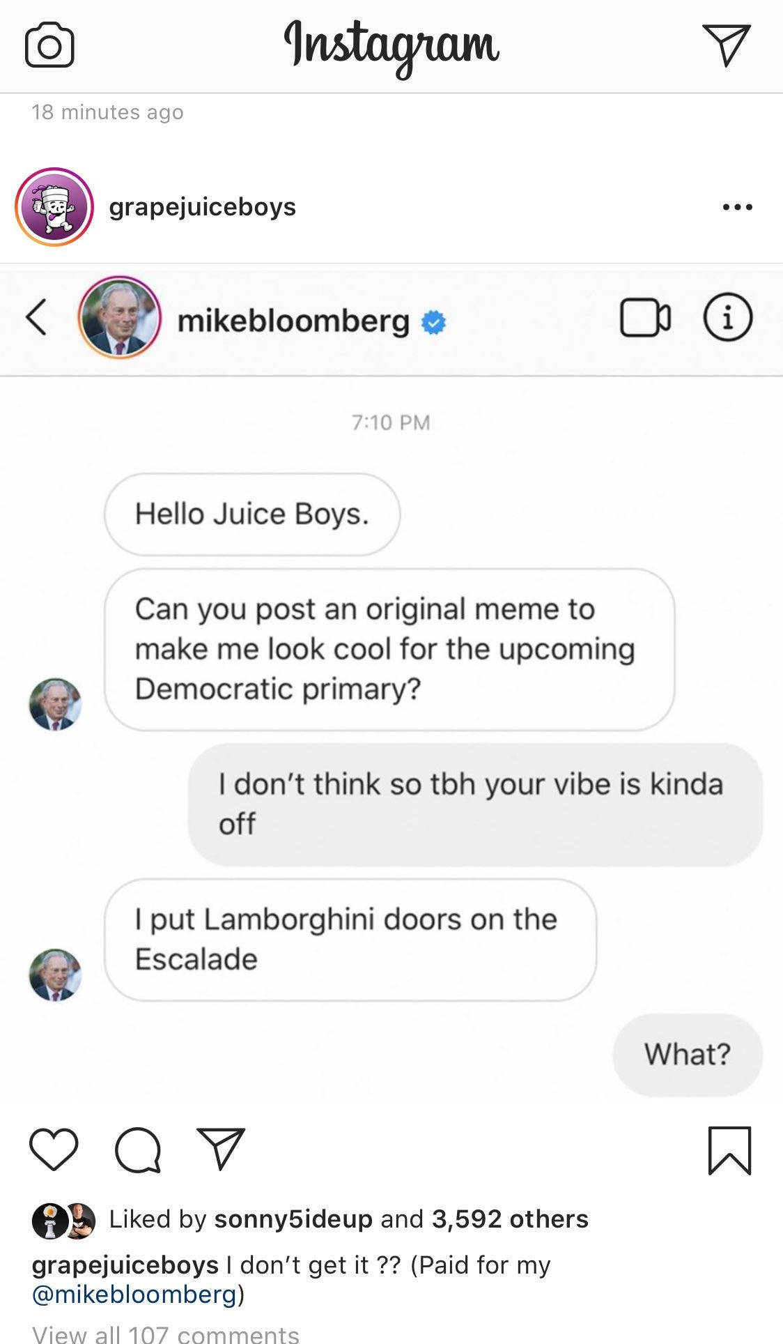 yes this is really sponsored by @mikebloomberg