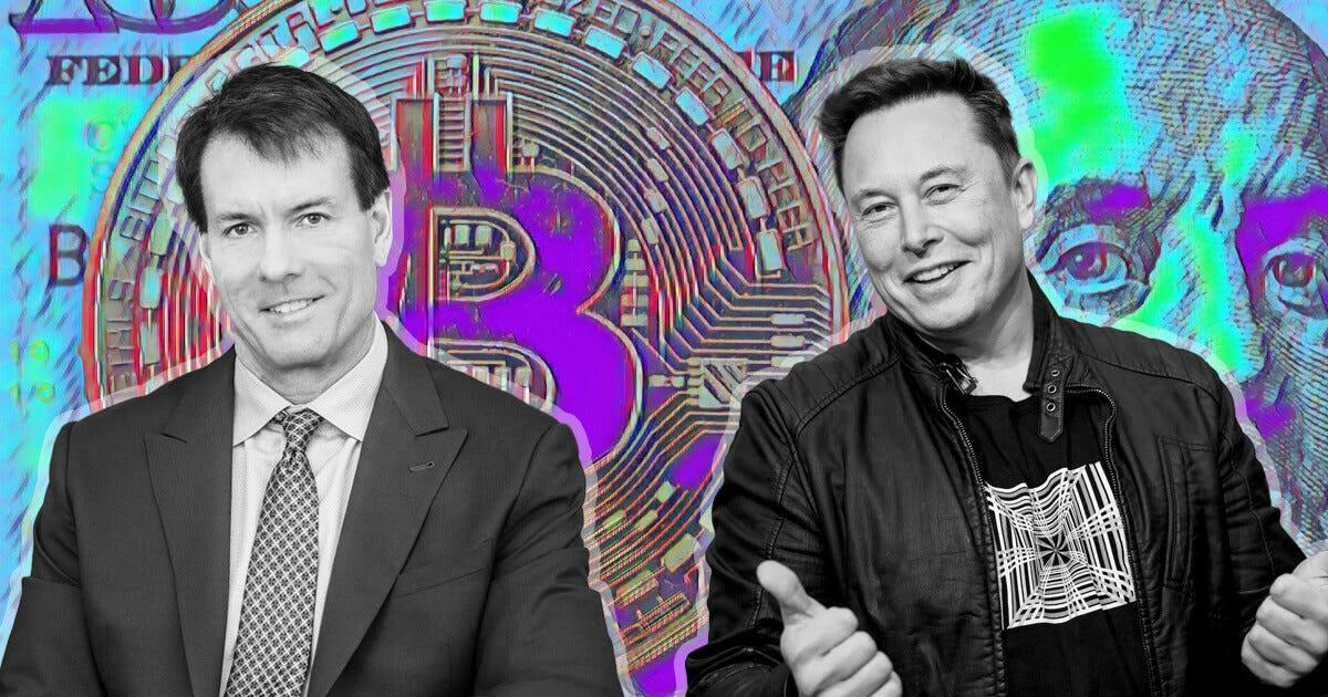 "Elon Musk gets ""congratulated"" by Michael Saylor after Tesla's $1.5 billion  Bitcoin splurge"