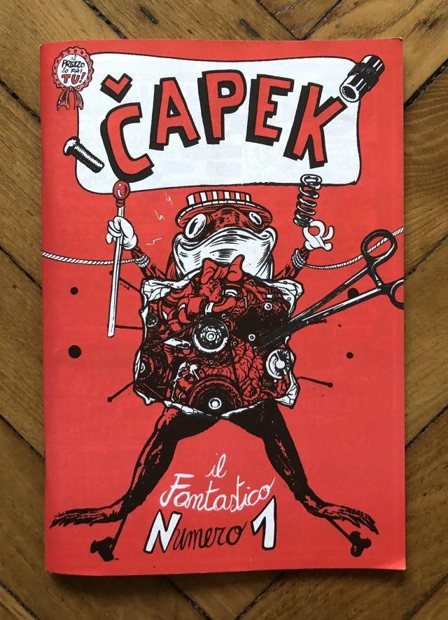 Čapek n° 1, copertina
