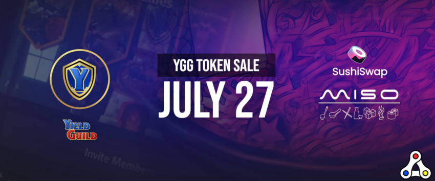 yield guild games sushiswap governance token YGG sale