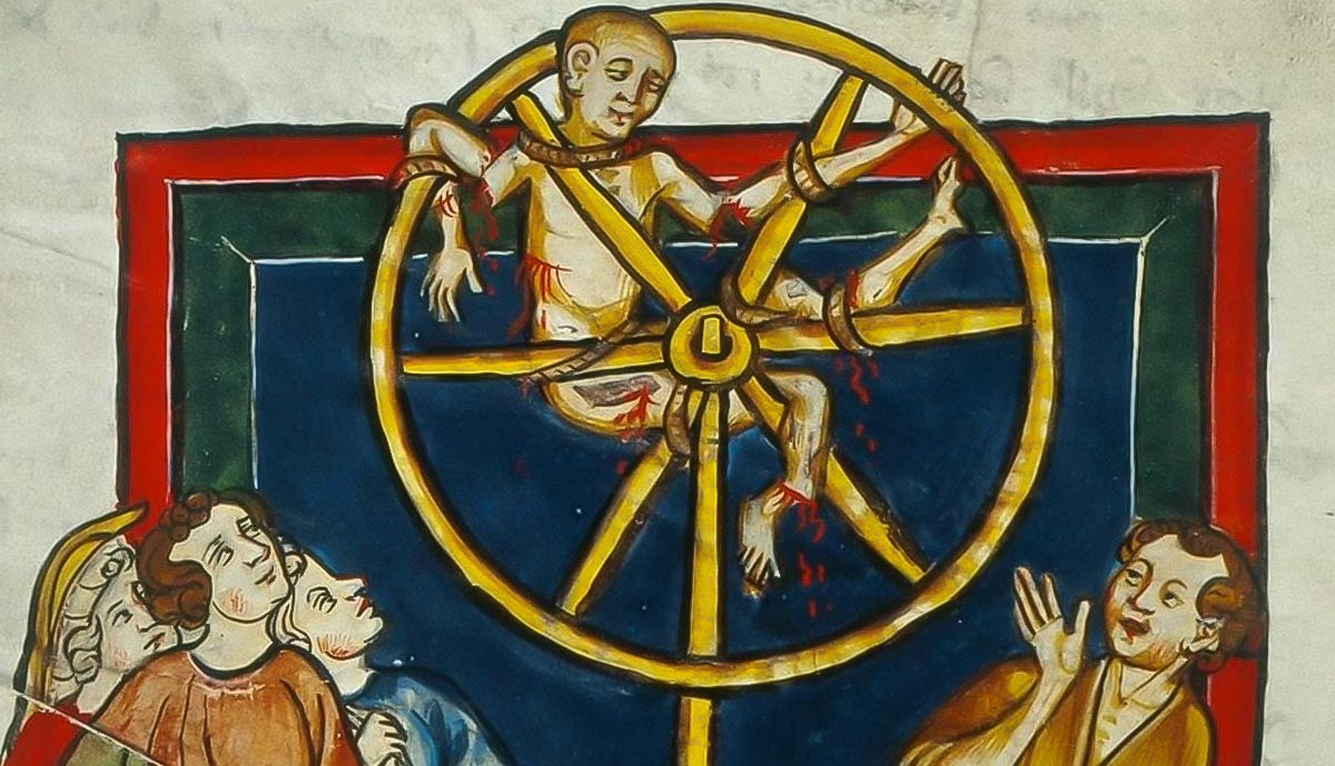 man broken on the wheel