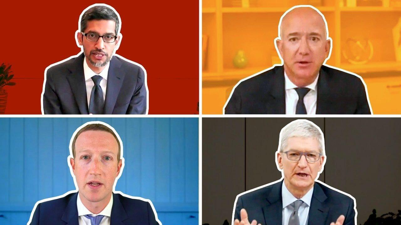 Las críticas del Congreso de EU ante la creciente presencia de Amazon,  Apple, Facebook y Google