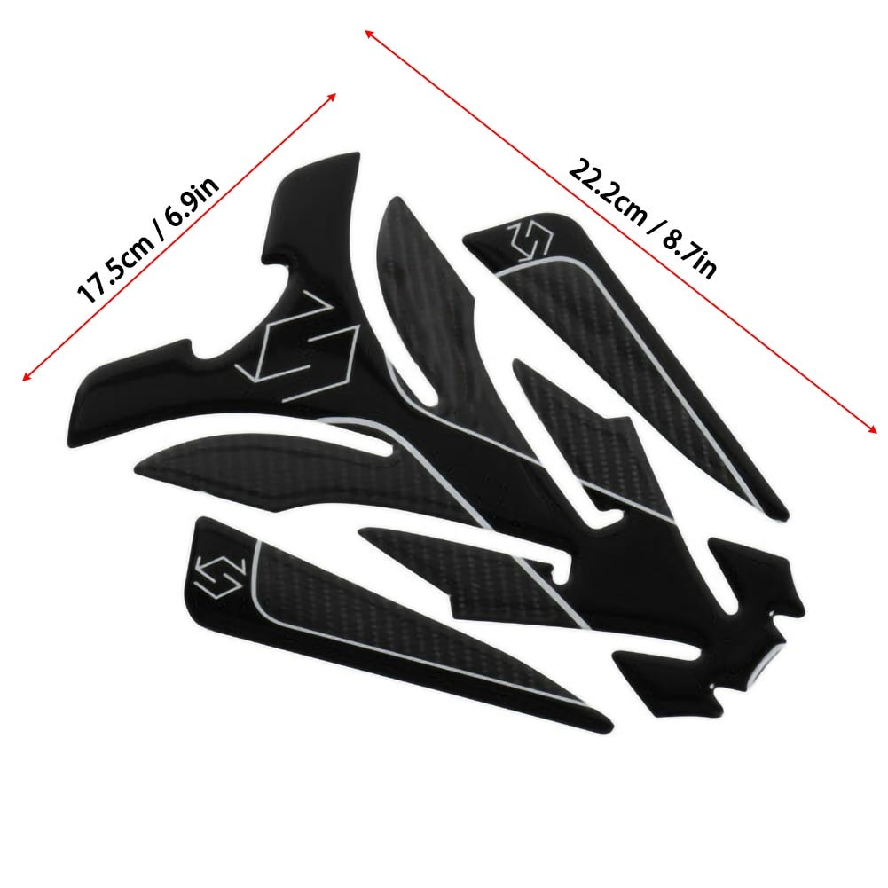 5D Carbon Fiber Motorcycle Tank Pad Sticker for Protector Sticker Decal for  For Suzuki GSX S GSX-R 150 250 GSXR600 750 1000