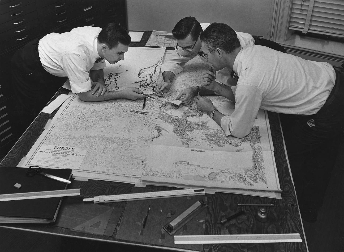 Cien años de mapas NG