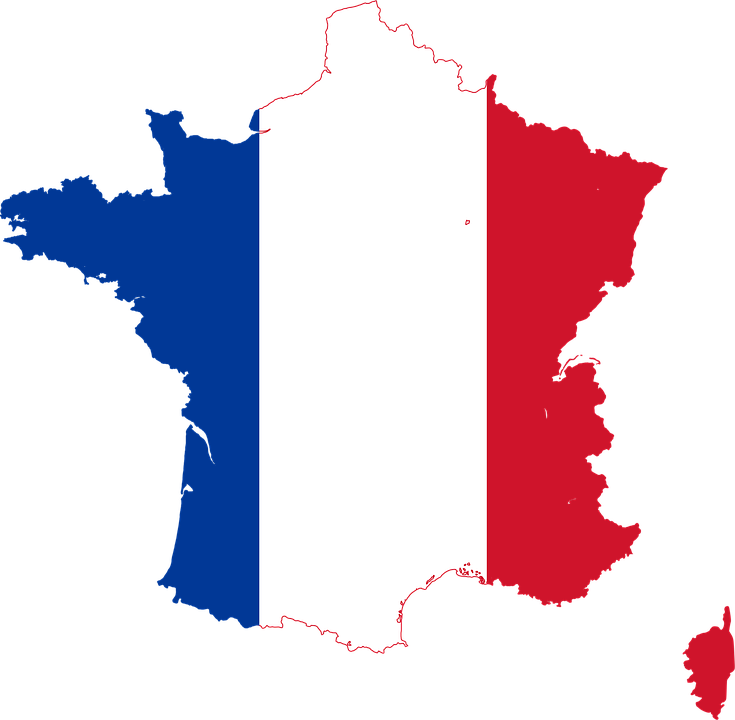 Map Of France, French Flag, Png, Tricolor