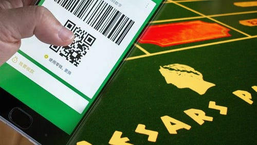 Caesars punts on WeChat Pay to win over Chinese gamblers in Las Vegas