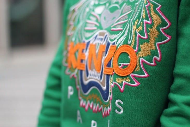 kenzo green tiger sweatshirt | Setting The Barre