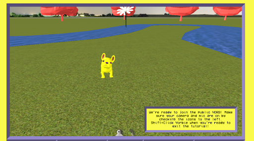 Yorbie the dog, a virtual assistant in YORB