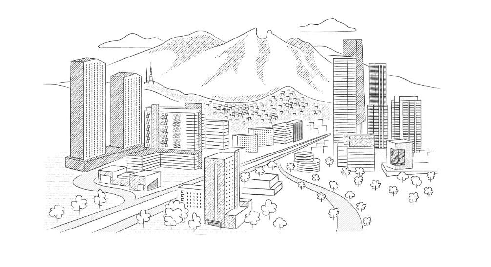 Cada vez hay más edificios en Monterrey. Muchos se ven vacíos