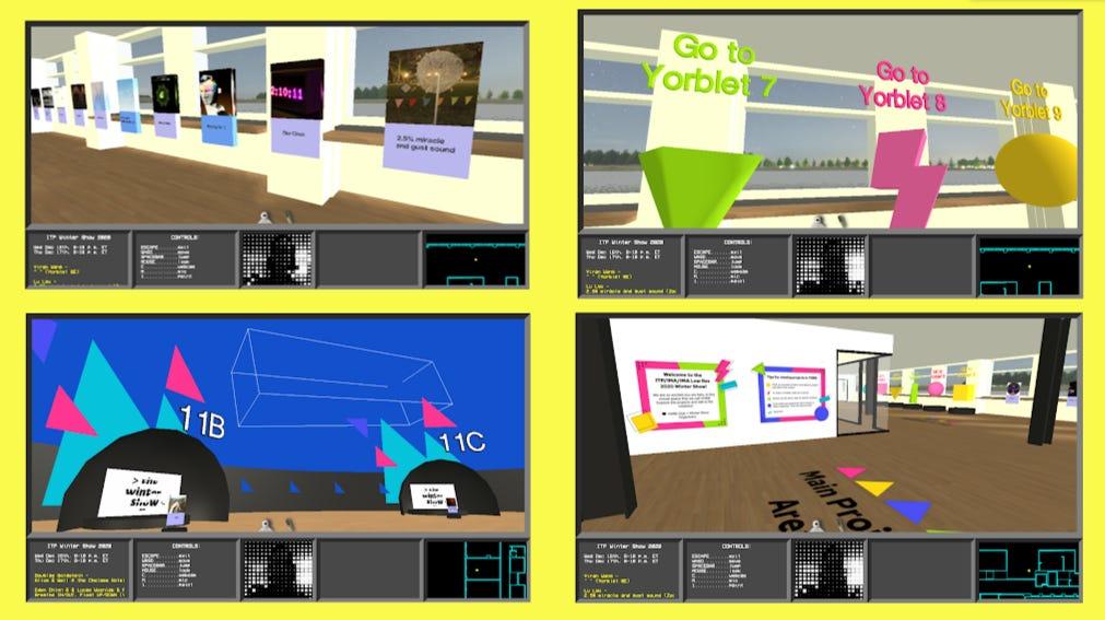 Screenshots from the virtual world YORB