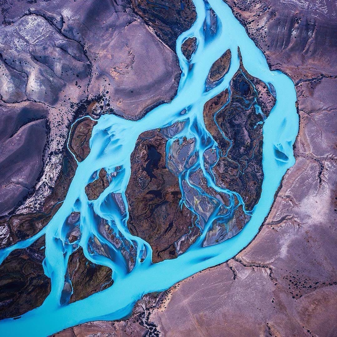 Blue Rivers from above