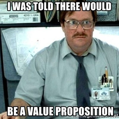 Milton Office Space - I was told there would  be a value proposition