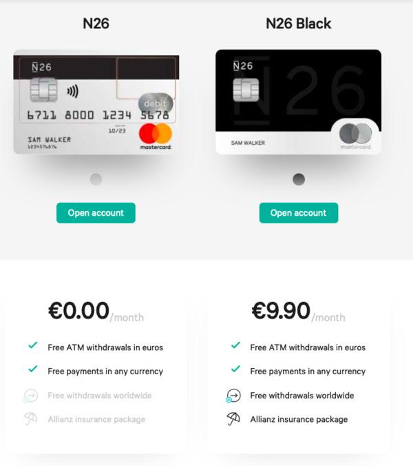 Enpara gibi ücretsiz banka kartına da sahip oluduğunuz N26 ile ücretsiz olarak şirket hesabı da açabiliyorsunuz.