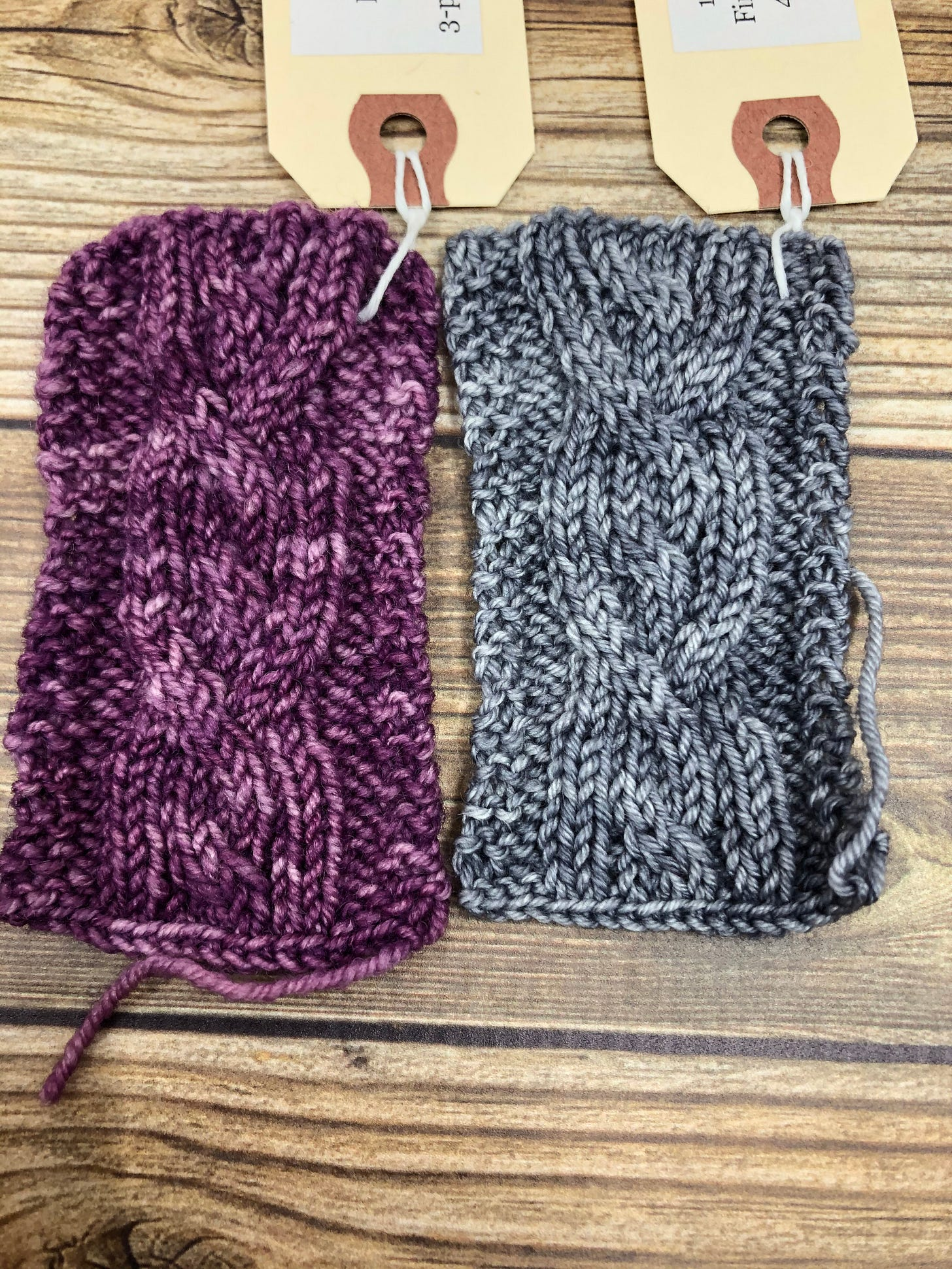 Cable swatches