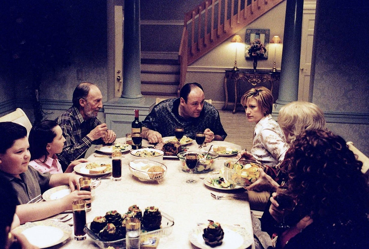 Image result for sopranos dinner