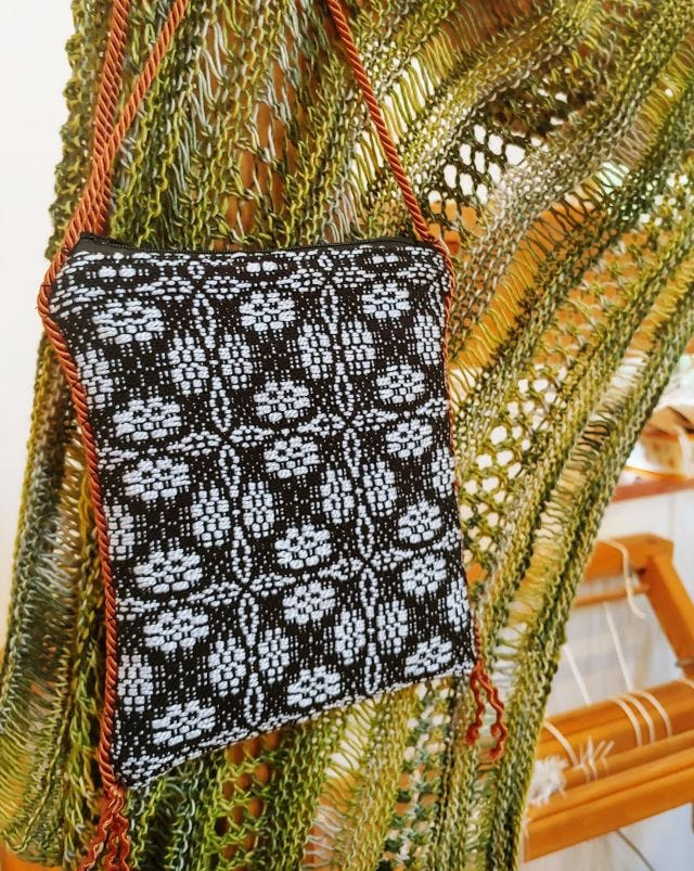 Photo of woven project.